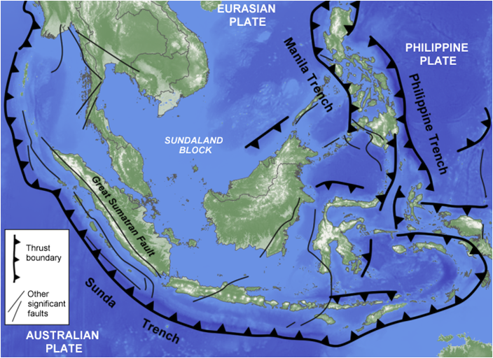 Earthquakes and volcanoes zone of convergence between the australian plate eurasian plate and philippine plate gumiabroncs