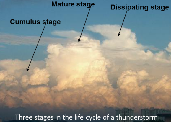 Stage of thunderstorm development
