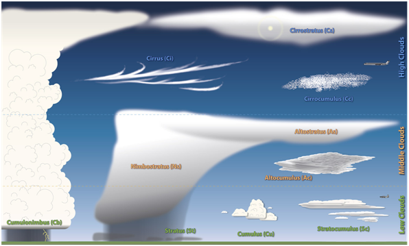 Basic cloud types