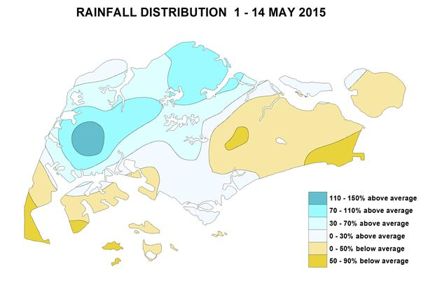 Rainfall 1-14 May 2015