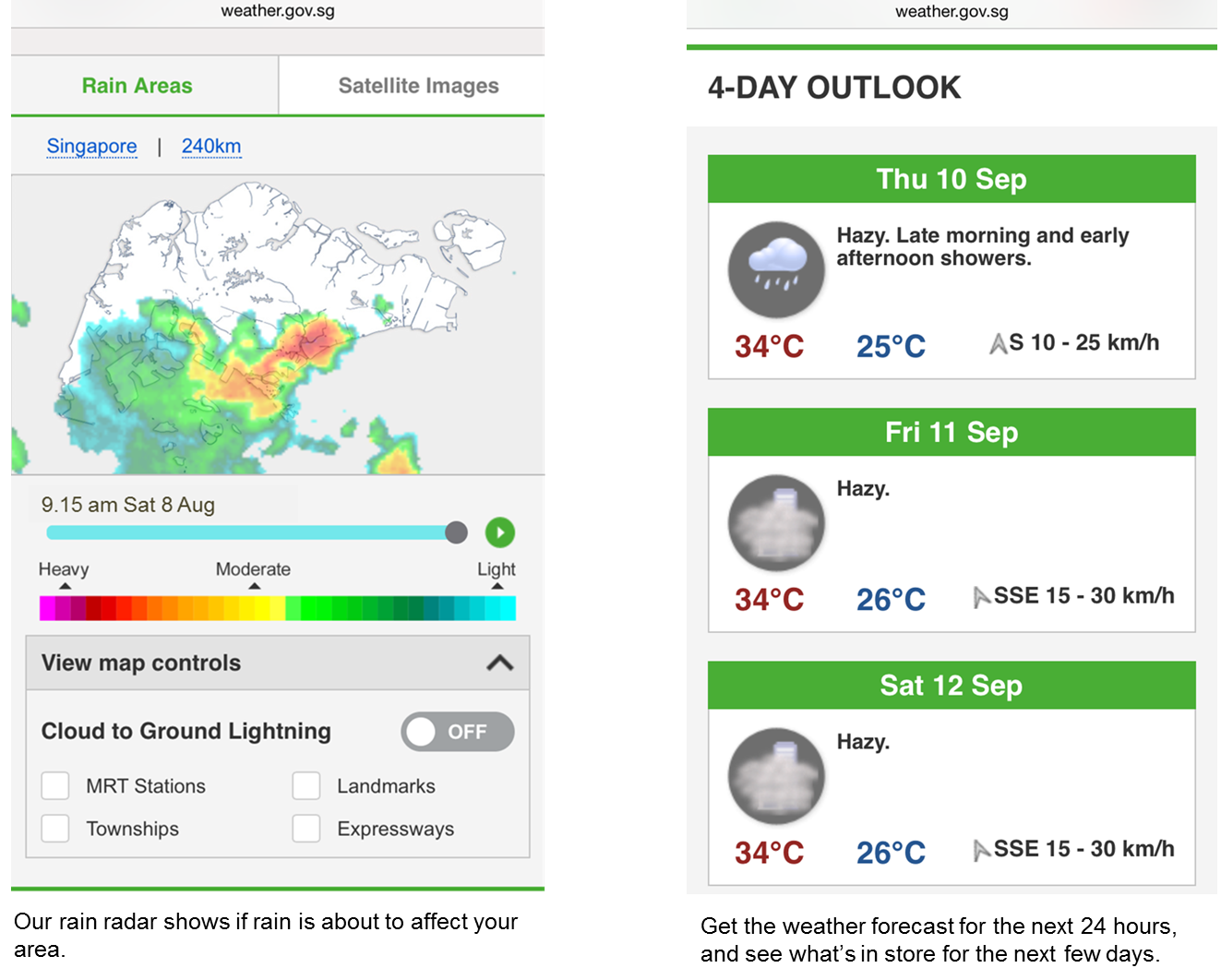 Meteorological Service Singapore Weather Website Goes Mobile |