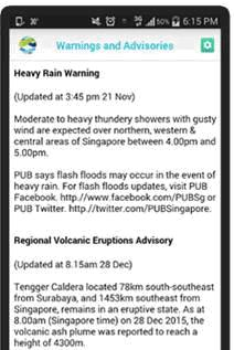 Heavy rain and hazards